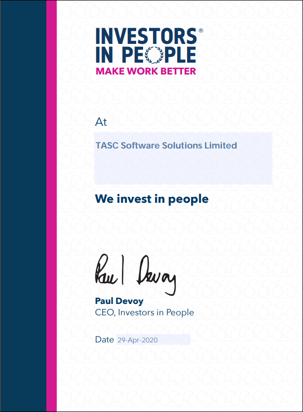 TASC Software - Investors in People